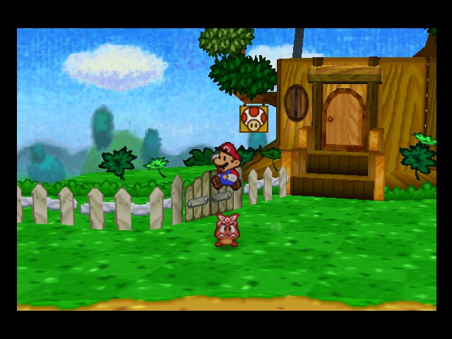 Paper Mario - Battle  - i am jumping on a lady goomba - User Screenshot
